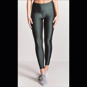 Forever 21 active nylon green leggings pants S